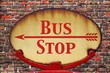 Retro sign Bus stop