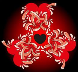 Vector illustration. Valentine background