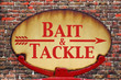 Retro sign Bait and tackle