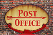 Retro sign Post office