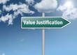 """Signpost """"Value Justification"""""""