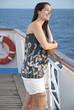Woman enjoying life at sea