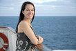 Woman on cruise liner