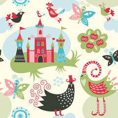 seamless pattern with fairy elements