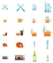 sticker/buttons eat & drink