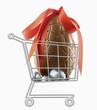 Mini caddie avec oeufs en chocolat de Pâques