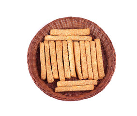 baking sticks in basket