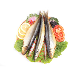 pickled herring with tomato rings