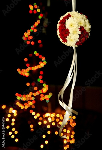 White red bunch with white ribbin and light blur