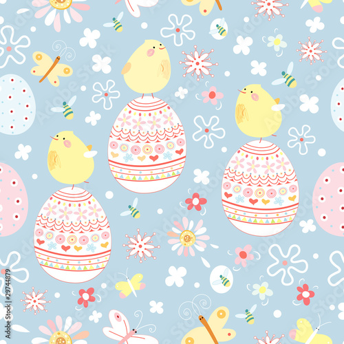 Cotton fabric Easter texture