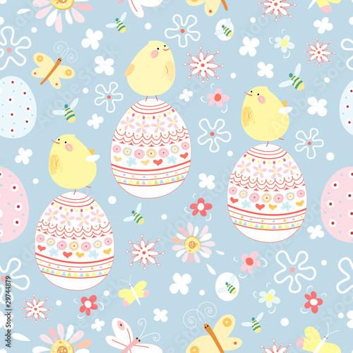 Materiał do szycia Easter texture