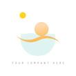 logo picto web marketing vacances commerce design icône été