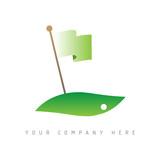 logo picto web golf marketing green commerce design icône