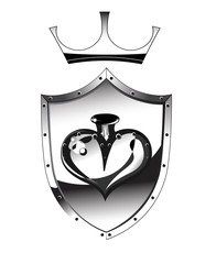 Heart of a metal shield