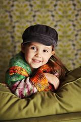 Cute preschool girl