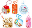 Gift tags for children, cartoon design