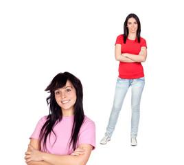 Couple of brunette girls