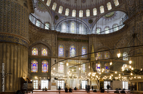 People praying in Blue Mosque