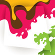 Colorful background with fluid shapes.
