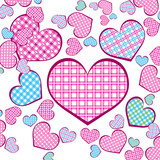 light background with hearts on white