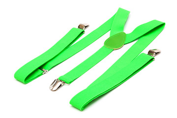 new green suspenders