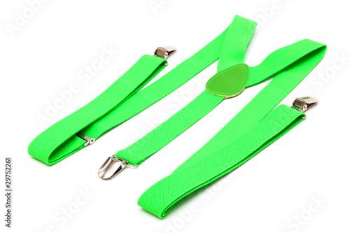 new green suspenders