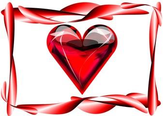 Rahmen mit großem Herz