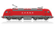Detailed photorealistic model of electric locomotive