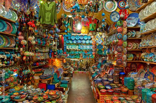 Grand bazaar shops in Istanbul.