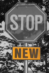 Isolated new stop sign