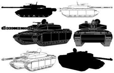 Military Tank Vector 01