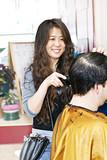 Hairstylist working poster