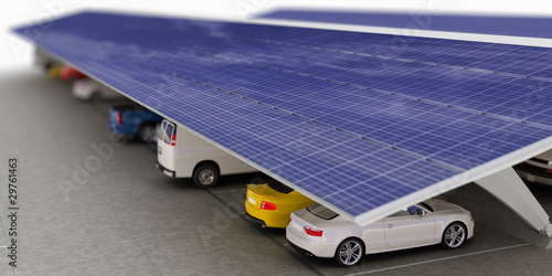 Solar Parkplatz (Fokus)