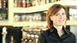Portrait of a Smiling Female Bar Tender; HD 720, H 264