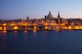Fototapety Old Valletta in dusk