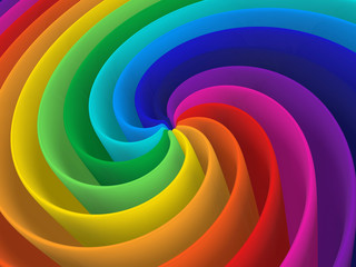 artistic rainbow colorful spiral modern structure background © Yang MingQi