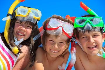 Snorkeling Children
