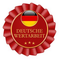 button schleife siegel deutsche wertarbeit