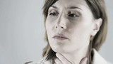 Close-up of a nervous woman; HD 720, H 264