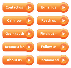 """CONTACT"" Web Buttons (contact customer service poster orange)"