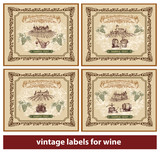 Vintage Labels for Wine