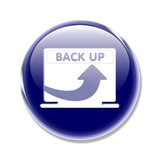 button pc mac backup back up poster