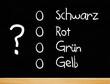 Die Wahl - schwarz / rot / grün / gelb