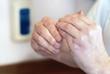 Serie Richtige Desinfektion der Hände MRSA