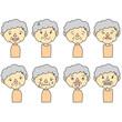 おばあさん表情