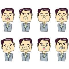 40代男性表情