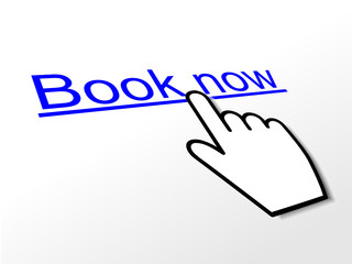 BOOK NOW Hyperlink (order online e-bookings web internet button)