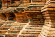 step of the brick wall decoration