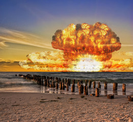 Nuclear bomb test in the ocean