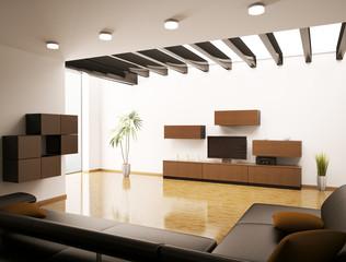 Wohnzimmer interior 3d render